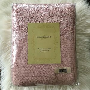 Highgate Manor Lace Blanket in Pink